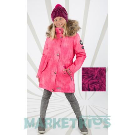 Lenne ESTELLA 18671/2033 модная парка-пальто зима (розовый принт)