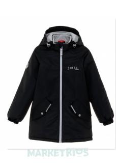 Joiks куртка демисезонная утепленная 150г на флисе (темно синяя)