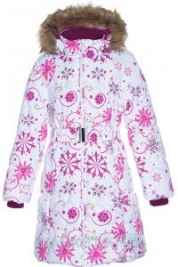 Huppa (Хуппа) YACARANDA 12030030 - 94220 пальто зимнее (белое в снежинки)