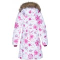 Huppa (Хуппа) YACARANDA 12030030 - 94220 пальто зимнее (белое в снежинки), Фото 2