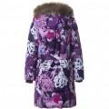 Huppa (Хуппа) YACARANDA 12030030 - 01453 пальто зимнее (фиолетовые цветы), Фото 2