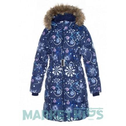 Huppa (Хуппа) YACARANDA 12030030 - 94286 пальто зимнее (синее в снежинки)