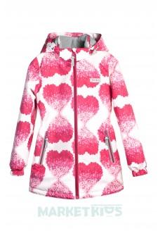 Joiks куртка осенняя 150г на флисе (сердечки)