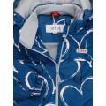 Joiks (джойкс) куртка демисезонная 150г на флисе (синяя в сердечки), Фото 4