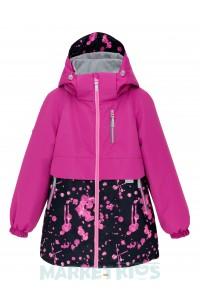 Joiks (джойкс) куртка демисезонная утепленная на флисе (фуксия)
