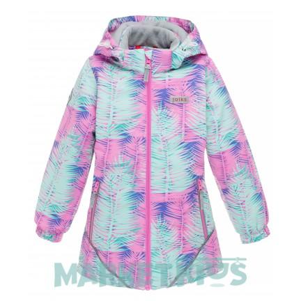 Joiks (джойкс) куртка осенняя утепленная 150г на флисе (листья)
