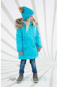 Lenne ESTELLA 19671/663 модная парка зима (голубая)