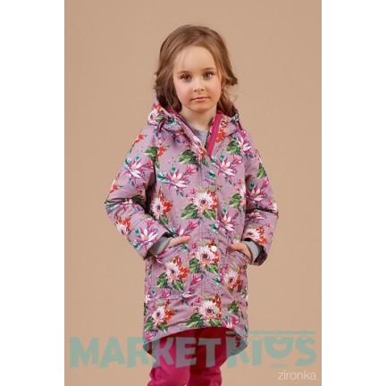 Пальто-парка для девочки весна 2018 ТМ Zironka мод 48-8005-2
