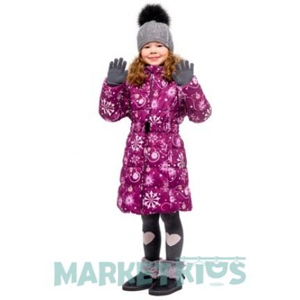 Huppa (Хуппа) YACARANDA 12030030 - 94234 пальто зимнее (бургунди снежинки)