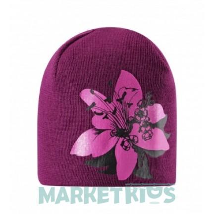 Lassie 728763-4840 шапка зимняя для девочки (цветок фуксия)