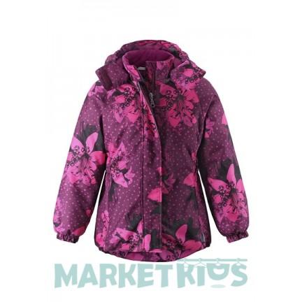 LASSIE by Reima куртка удлиненная зимняя 721734-4843 ( цветы)