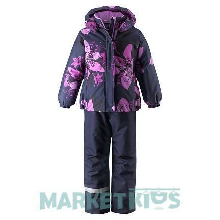 LASSIE by Reima комплект зимний 723734-6955 (фиолетовые цветы)