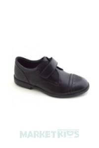 Туфли школьные кожаные Krokky 1704С-11 (черные)