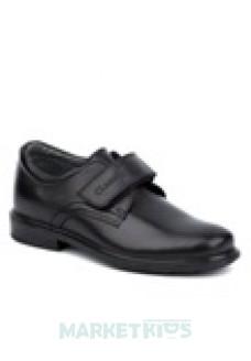 Туфли школьные кожаные для мальчика Shagovita (черные)
