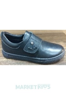 Туфли-полуботинки кожаные Krokky 5002-02С (черные)