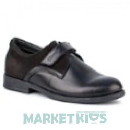 Туфли кожаные для мальчика Shagovita (черные)