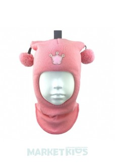 "Шлем Beezy (Бизи) 1401/12 зимний ""принцесса"" (розовый)"