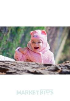"Шлем Beezy (Бизи) 1450/12 зимний ""кошка"" (розовый)"
