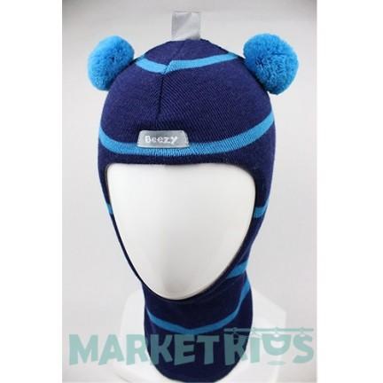 Зимний шлем Beezy 1402/42 мишка (полоска)