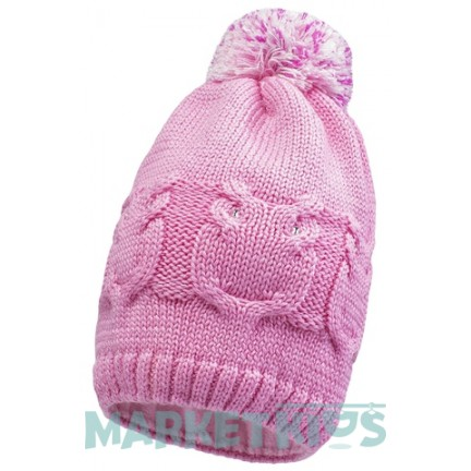 Lenne Gali 19392/191 шапка зимняя для девочки (розовая)