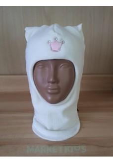 "Шлем Beezy (Бизи) 1450/21 зимний ""кошка"" (белый)"