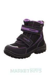 SUPERFIT SNOWCAT ботинки зимние (черно-фиолетовые)